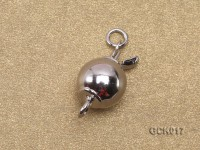 8mm Single-strand Gilded Ball Clasp