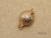 10mm Single-strand Frosted Gilded Ball Clasp