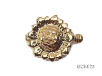 17.5mm Single-strand Sunflower-shaped Gilded Clasp