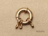 15.5mm Single-strand Gilded Clasp