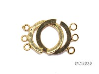 15mm Three-strand Interlocked Gilded Clasp