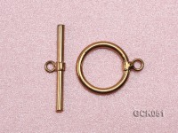 15x25mm Single-strand Gilded Toggle Clasp