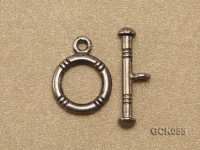 12x20mm Single-strand Gilded Toggle Clasp