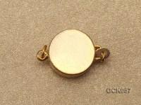 12mm Single-strand Rhinestone-inlaid Golden Gilded Clasp