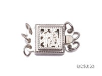 8.5mm Three-strand Square White Gilded Clasp
