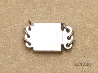 8.5mm Three-strand Square White Gilded Clasp