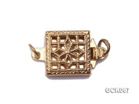 8.5mm Single-strand Square Golden Gilded Clasp