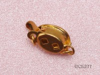 7x9mm Single-strand Golden Gilded Clasp Inlaid with Imitation Pearl