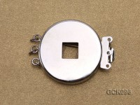 25mm Three-strand Gilded Clasp Inlaid with Imitation Copper Coin