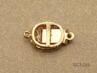 10x12mm Single-strand Golden Gilded Clasp