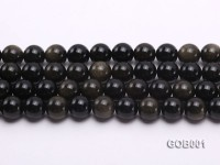Wholesale High-quality 14mm Round Obsidian String