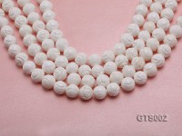 Wholesale 12mm Round Carved Tridacna String