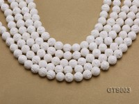 Wholesale 10mm Round Carved Tridacna String