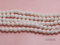 Wholesale 8mm Round Carved Tridacna String