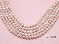 Wholesale 10-11mm Classic White Round Freshwater Pearl String