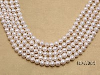 Wholesale Nice-quality 9.5-11.5mm White Round Freshwater Pearl String