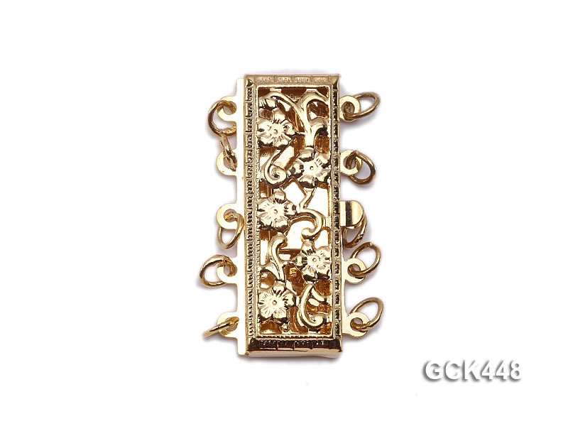 High quality 14k gold plated jewelry clasp with zircon