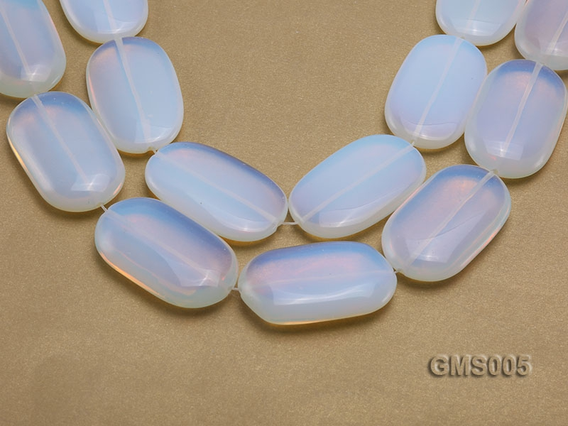 Wholesale 30x50mm Cream Oval Moonstone String
