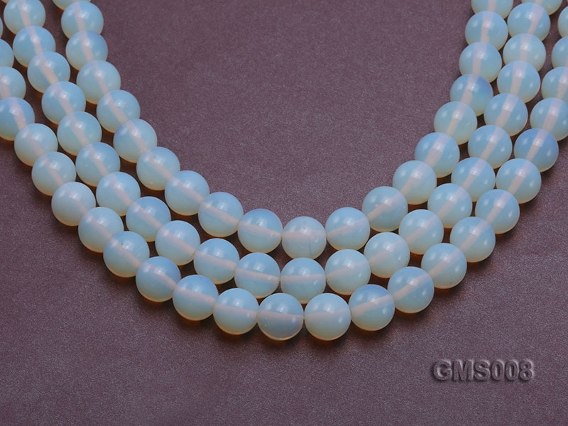 Wholesale 12mm Cream Round Moonstone String