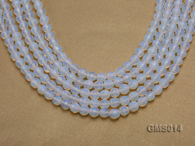 Wholesale 8mm Cream Round Moonstone String