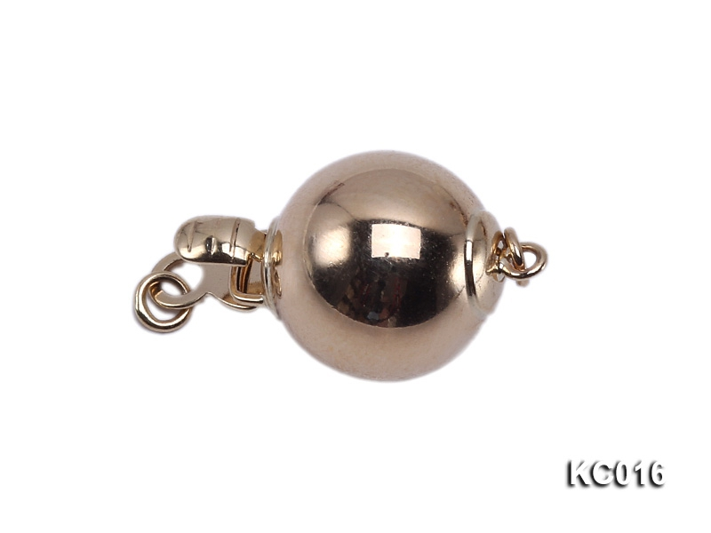 10mm Single-strand 14K Gold Ball Clasp