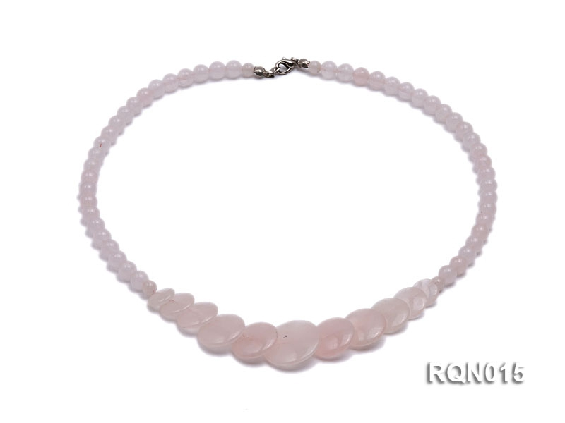 6mm Round Rose Quartz Beads Necklace