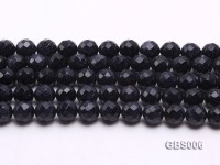 wholesale 12mm faceted round Blue Sandstone strings