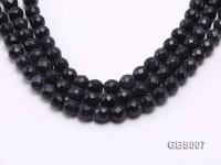 wholesale 10mm faceted round Blue Sand Stone strings