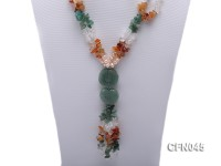 5-12mm Crystal and Other Gemstone Necklace