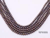 Wholesale 7-8mm Black Round Freshwater Pearl String