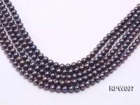 Wholesale 7.5-8.5mm Purplish Black Round Freshwater Pearl String