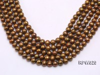 Wholesale 10mm Dark Coffee Round Freshwater Pearl String