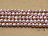 Wholesale 8-9mm Natural Lavender Round Freshwater Pearl String