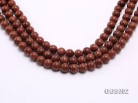 wholesale 10mm round faceted goldstone strings