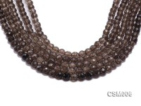 Wholesale 8mm Round Faceted Smoky Quartz Beads String