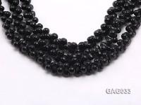 wholesale 5x11mm irregular black agate strings