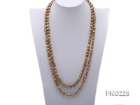 9-10mm coffee baroque freshwater pearl necklace