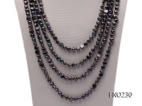 7-8mm black baroque pearl necklace
