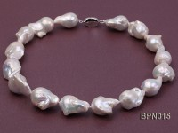 Classic 18×20-20x23mm White Baroque Freshwater Pearl Necklace