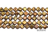 Wholesale 10-12mm Coffee Irregular Cultured Freshwater Pearl String