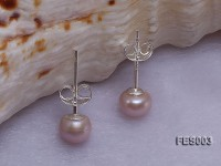 6mm Lavender Flat Cultured Freshwater Pearl Earrings