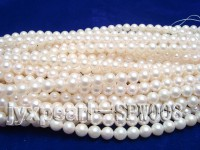 High-quality 7-7.5mm White Round Seawater Pearl