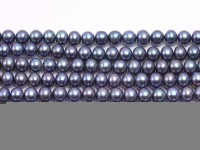 Wholesale 7x8mm Peacock Flat Cultured Freshwater Pearl String