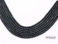Wholesale 5.5×6.5mm Black Flat Cultured Freshwater Pearl String