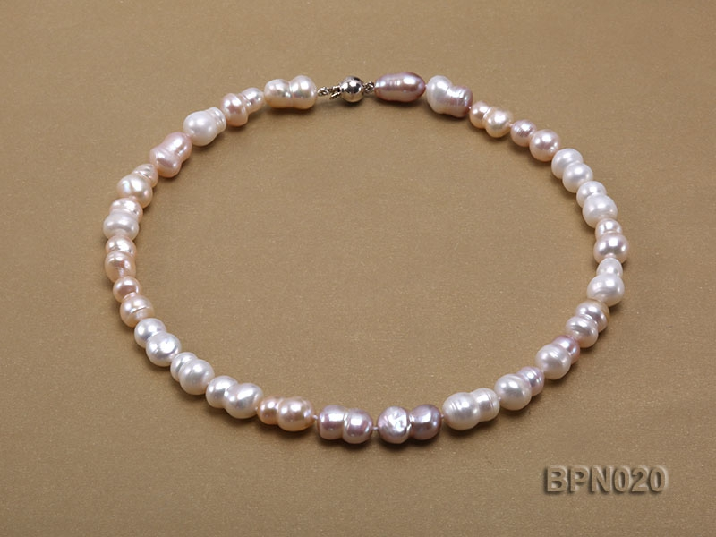 Classic 8×11-8x13mm Multi-color Baroque Freshwater Pearl Necklace