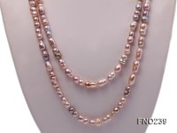 6×11-8x14mm single strand pink irregular freshwater pearl necklace