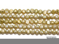 Wholesale Charming 8-9mm Flat Freshwater Pearl String