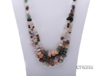 8-9mm Multicolor Precious Gemstone Necklace