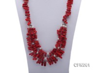 9-13mm Red Coral Long Necklace