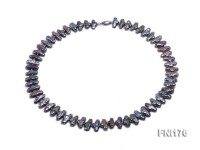 Classic 7x14mm Brown Irregular Freshwater Pearl Necklace